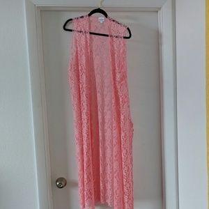 NWOT Lularoe lacy pink Joy L